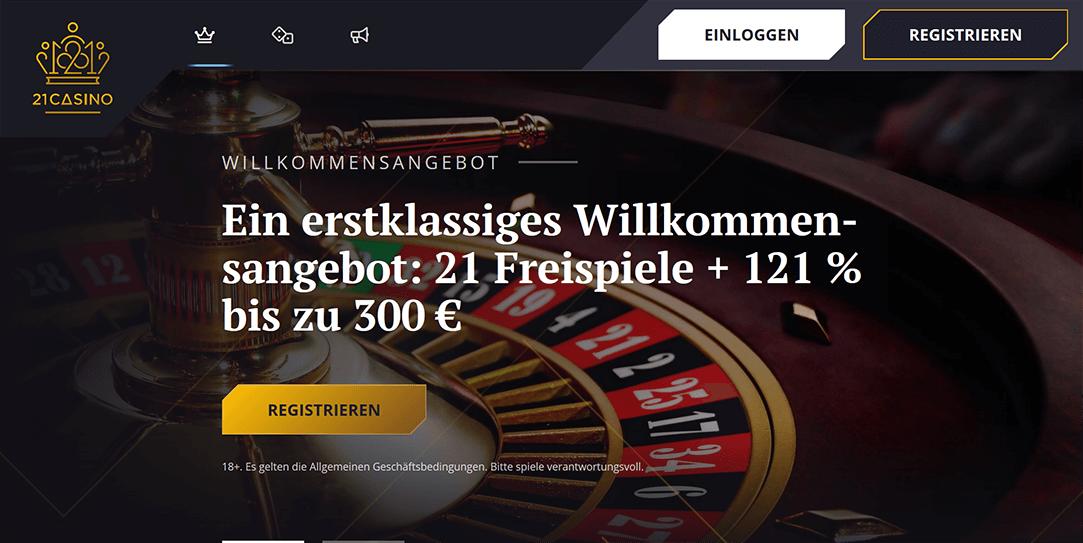 21 Casino Einzahlung und Auszahlung
