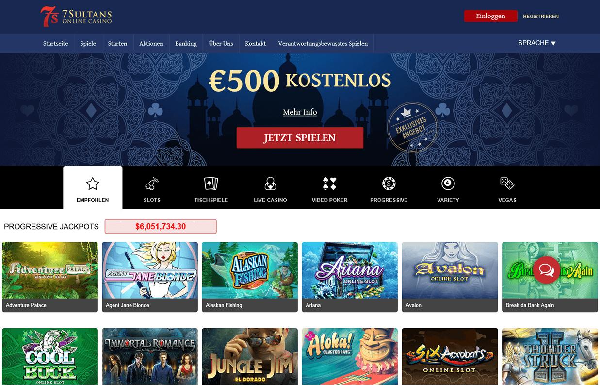 7 Sultans Casino Anmeldung