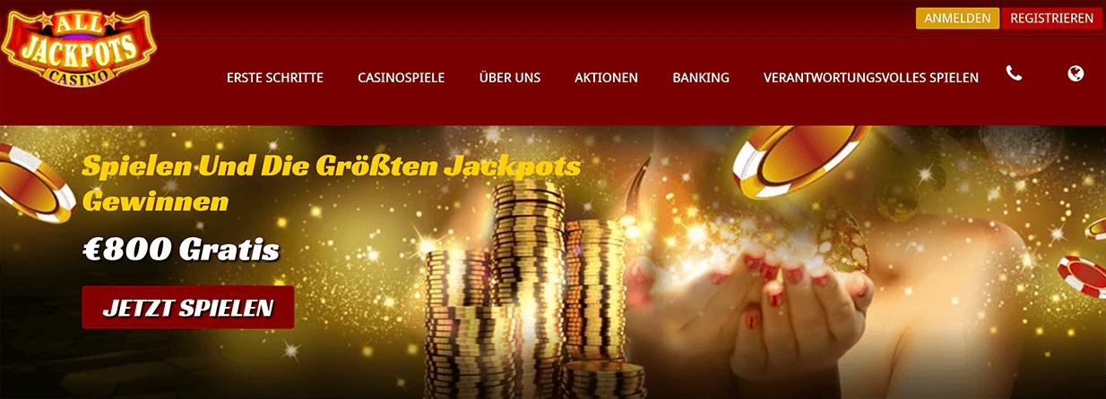 All Jackpots Casino Einzahlung & Auszahlung