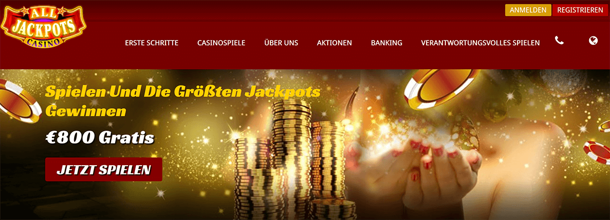 All Jackpots Casino Anmeldung