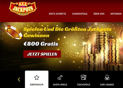 All Jackpot Casino Erfahrungen & Testbericht
