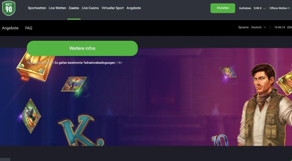 Bet90 Casino – Erfahrungen & Testbericht 2020