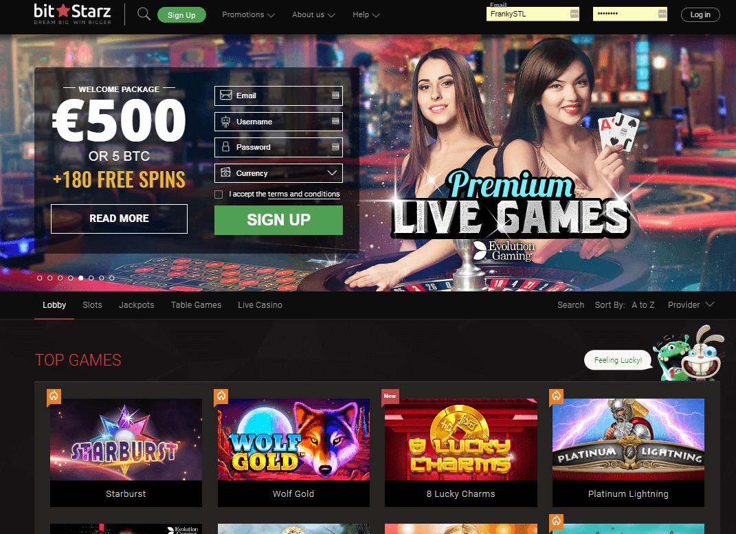 Bitstarz Casino Einzahlung und Auszahlung