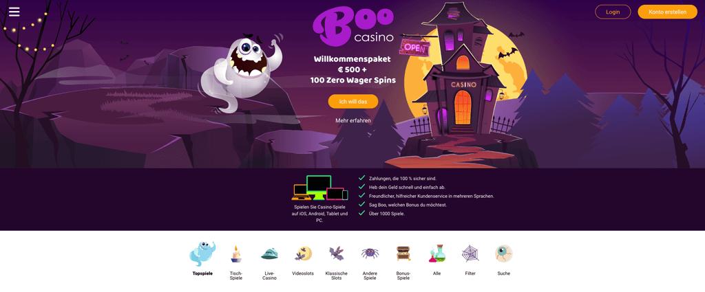 Boo Casino – Erfahrungen & Testbericht  2020