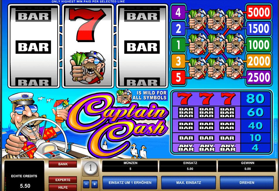 Captain Cash Slot Spielbeschreibung – Tipps, Tricks & Regeln