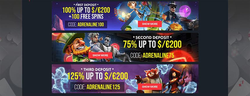 Casino Adrenaline Einzahlung & Auszahlung