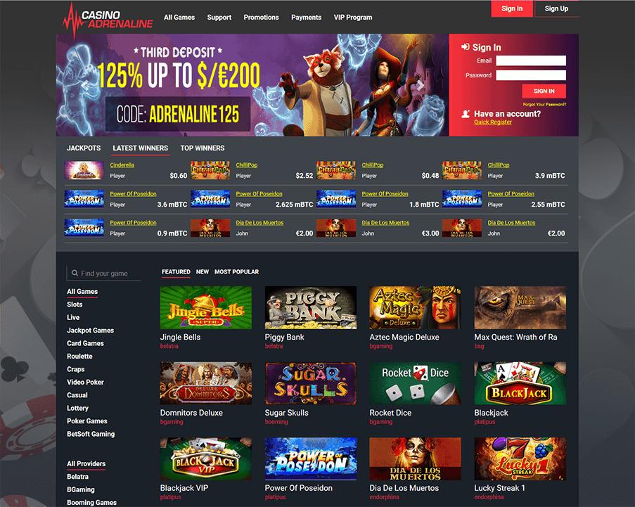 Casino Adrenaline Erfahrungen & Testbericht
