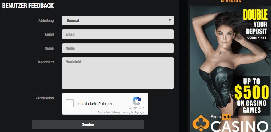 Pornhub Casino Anmeldung