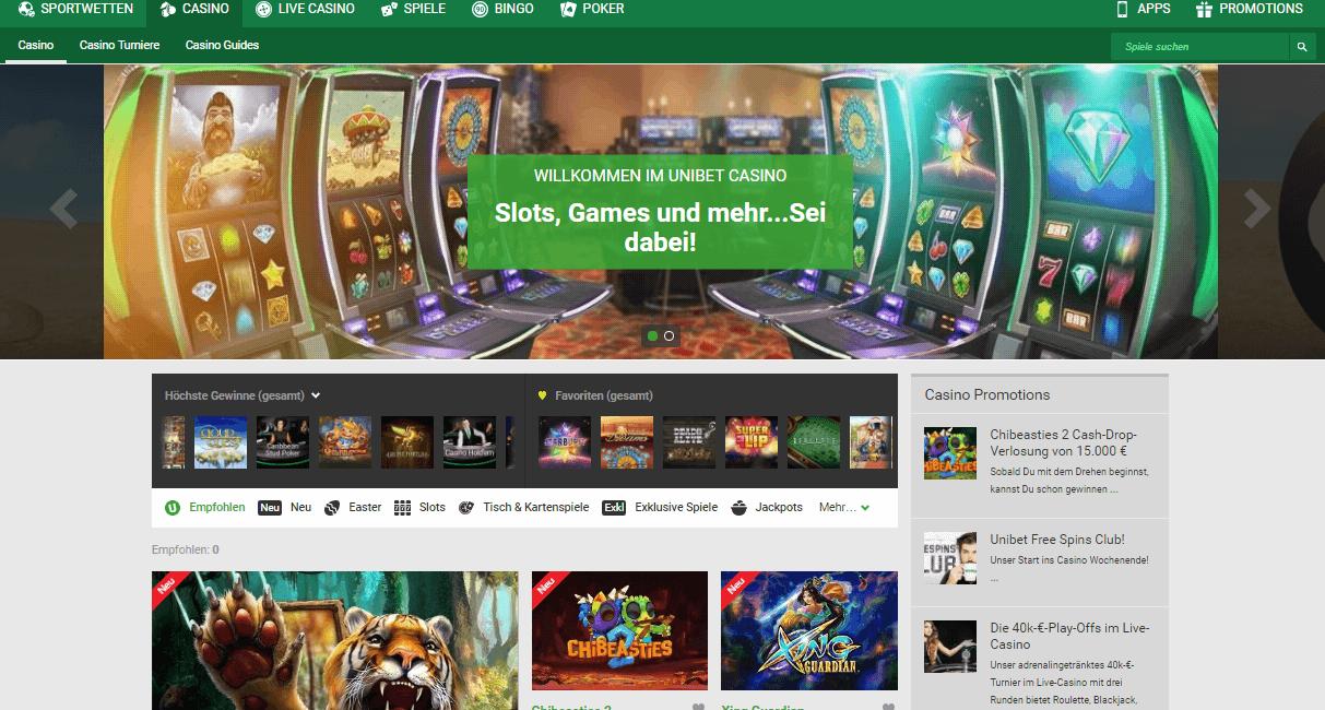 Unibet Casino Erfahrungen & Testbericht