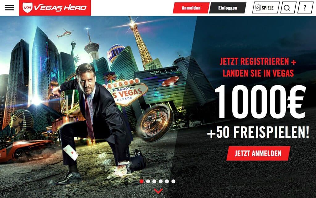 Vegas Hero Erfahrungen – Registrierung 1