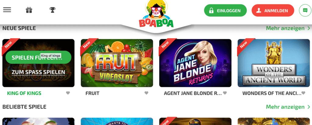 BoaBoa Casino Bewertung