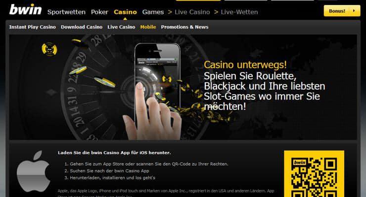 bwin Casino App für iPhone, iPad & Android zum Download