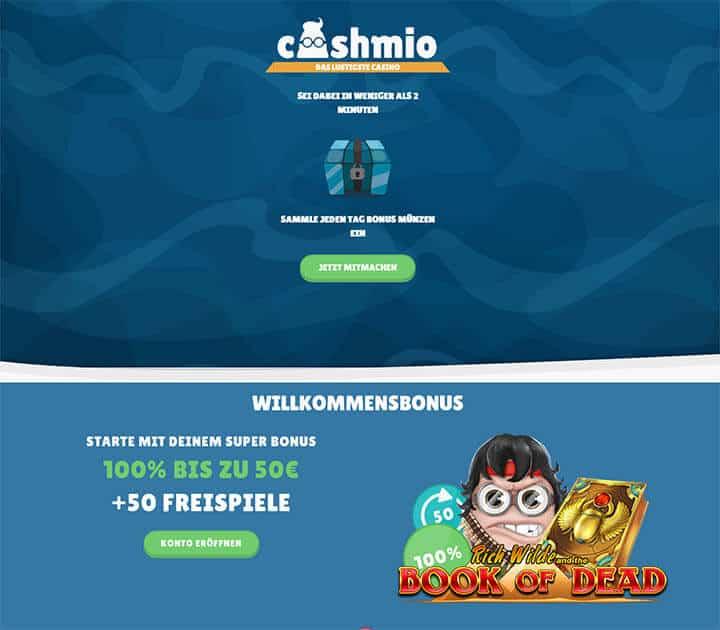 Cashmio Casino Einzahlung & Auszahlung