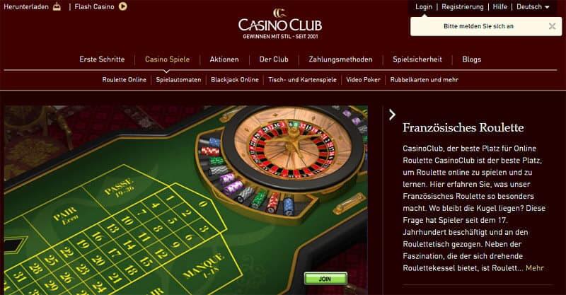 CasinoClub Roulette und Blackjack Erfahrungen, Auszahlungen & Limit