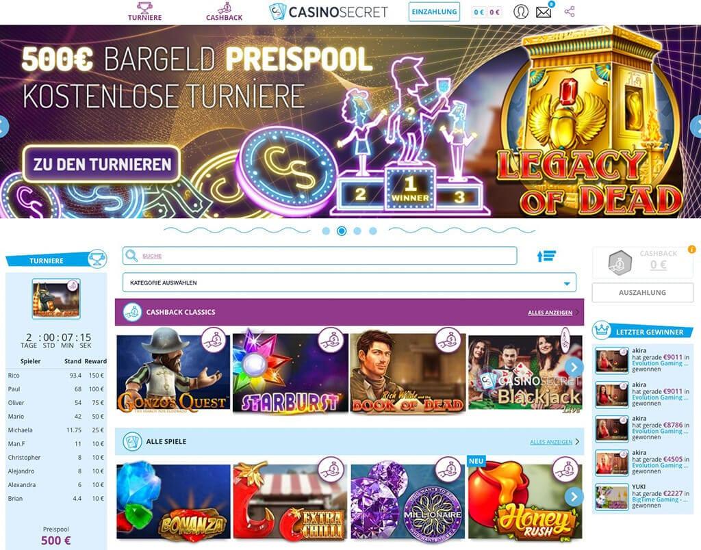 Casino Secret – Erfahrungen & Testbericht 2020