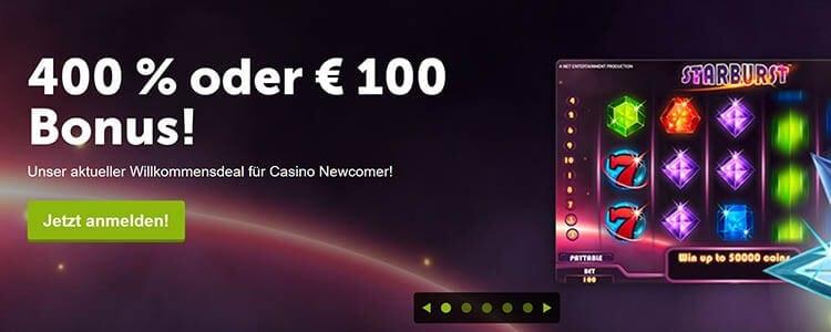 ComeOn Casino Anmeldung