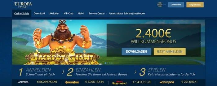 Europa Live Casino – Erfahrungen und Test 2018