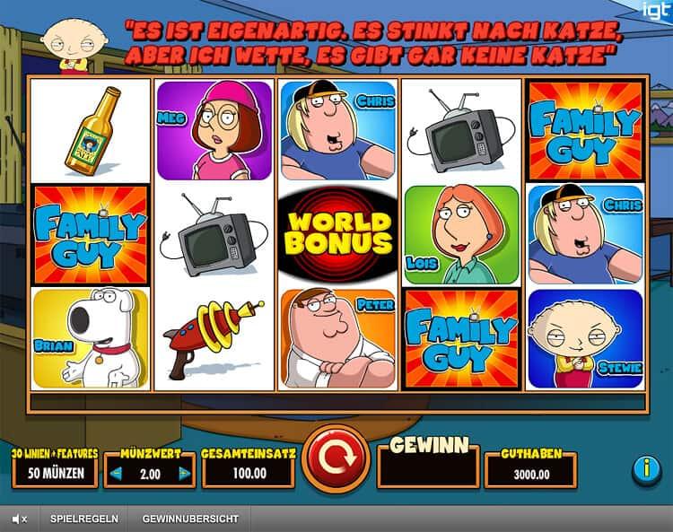 Family Guy Slot – Spielbeschreibung, Tipps, Tricks & Regeln