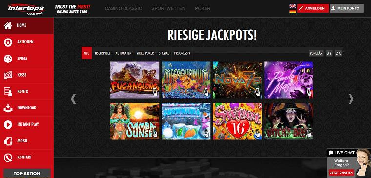 Intertops Casino Erfahrungen & Testbericht