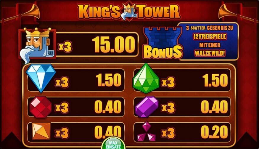 kings tower spielen