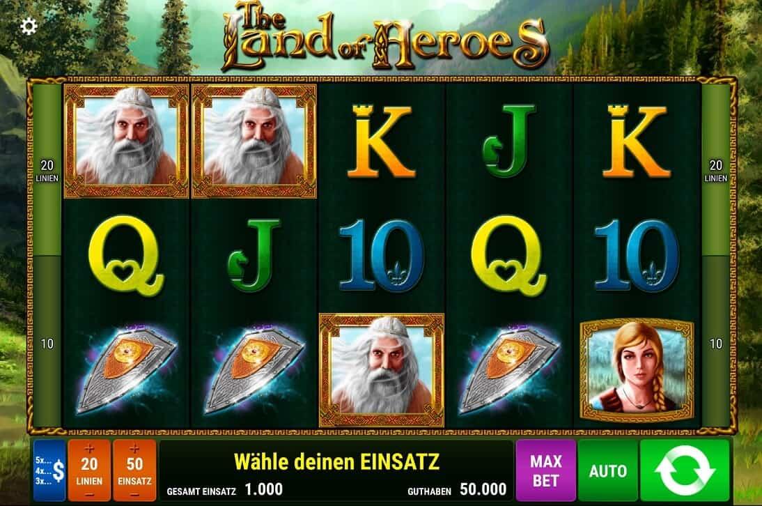 The Land of Heroes Slot -Spielbeschreibung