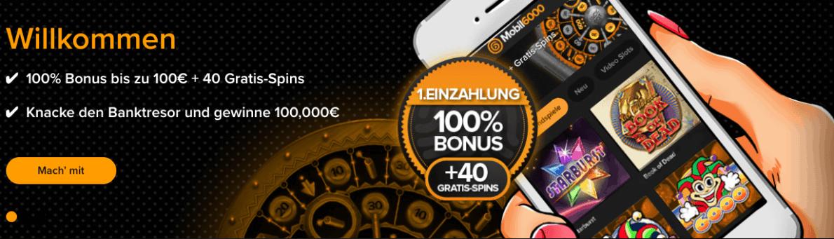 Mobil6000 Casino Einzahlung & Auszahlung