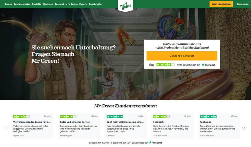 Mr. Green Casino Erfahrungen und Test