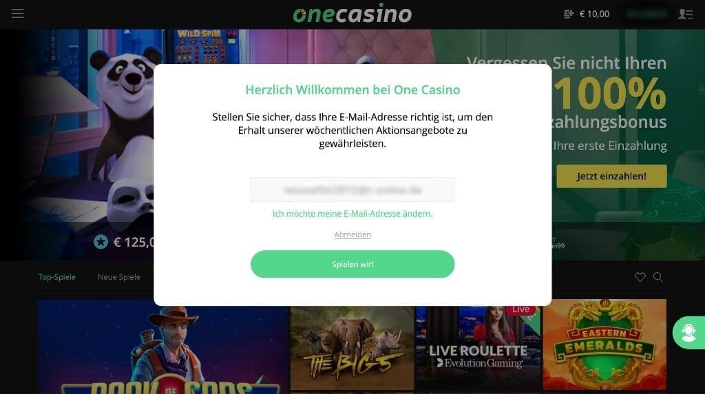 One Casino Erfahrung