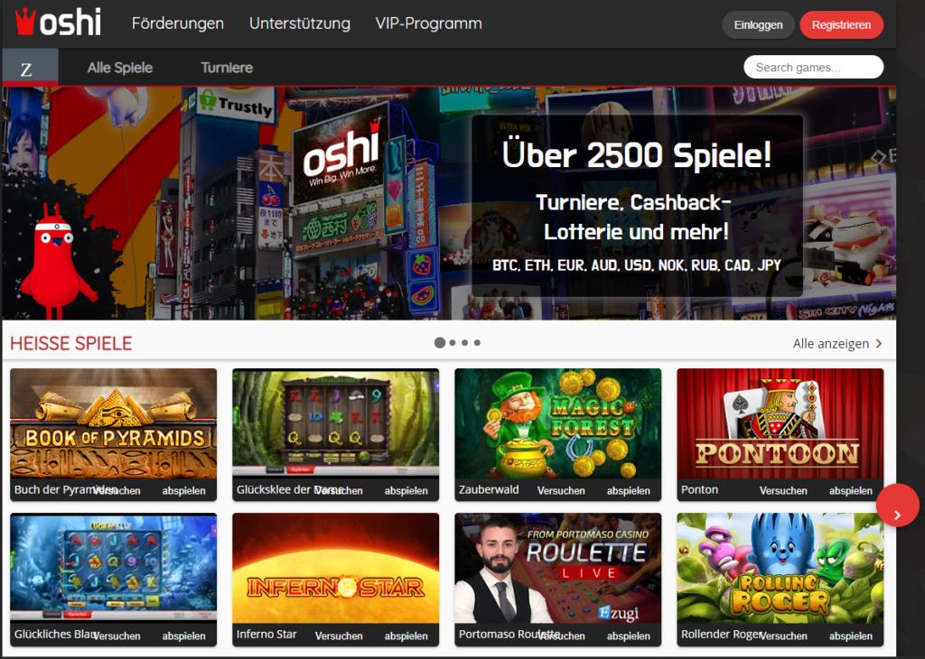 Oshi Casino – Erfahrungen & Testbericht 2020