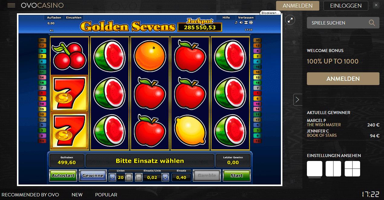 Golden Sevens Slot Spielbeschreibung – Tipps, Tricks & Regeln