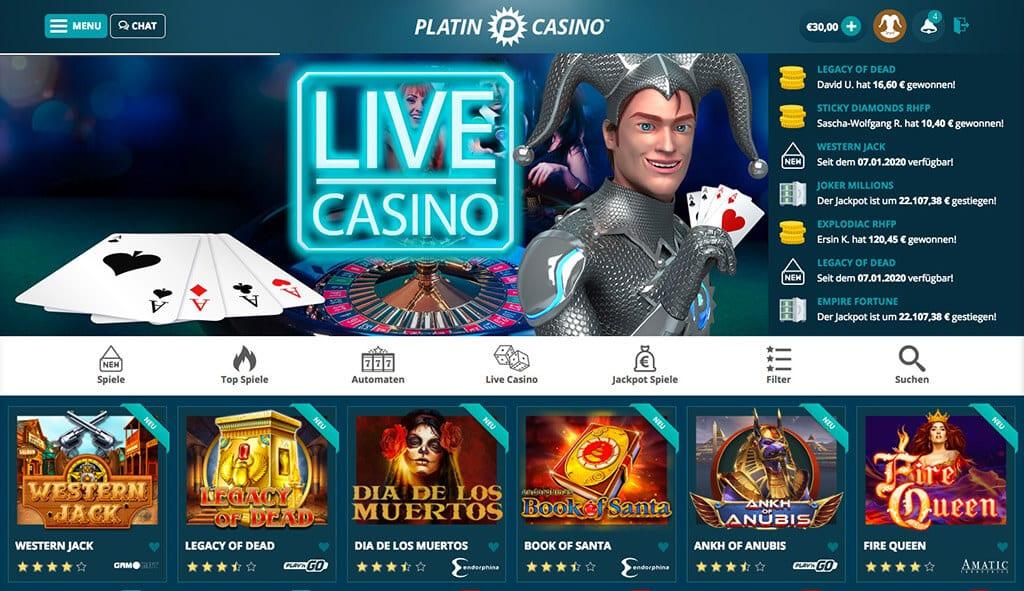 Platin Casino – Erfahrungen & Testbericht2020
