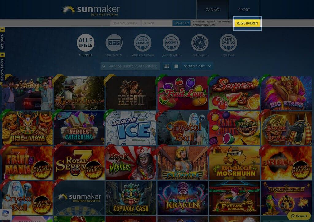 Sunmaker Casino Anmelden