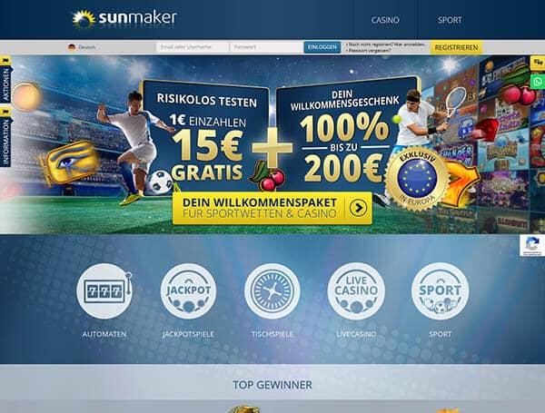 Sunmaker Live Casino – Erfahrungen und Test 2019