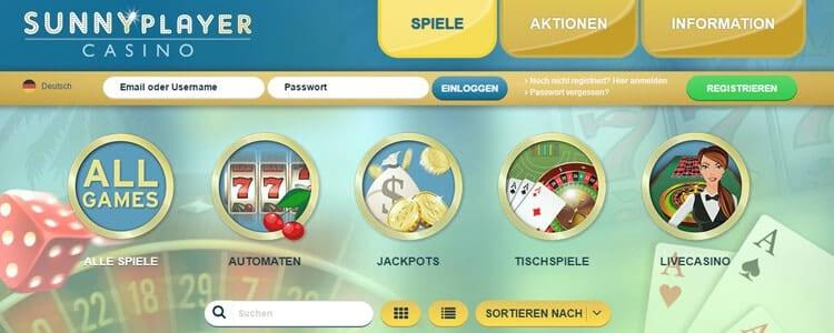Sunnyplayer Casino Anmeldung