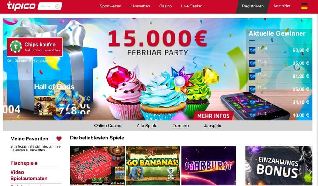 Tipico Online Casino in Deutschland mit Echtgeld