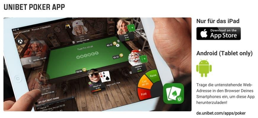 Unibet Poker App für iPhone, iPad und Android (+Download)