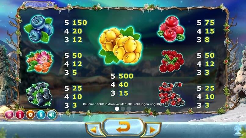Winterberries Slot – Spielbeschreibung